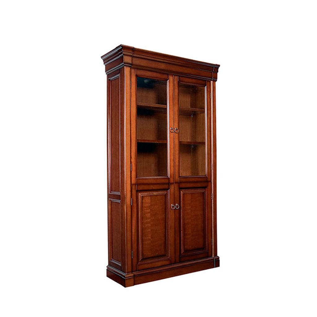 Книжные шкафы от столплит со стеклянными дверками.